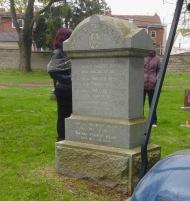 Prospect Cemetery: one of the Freemason stones